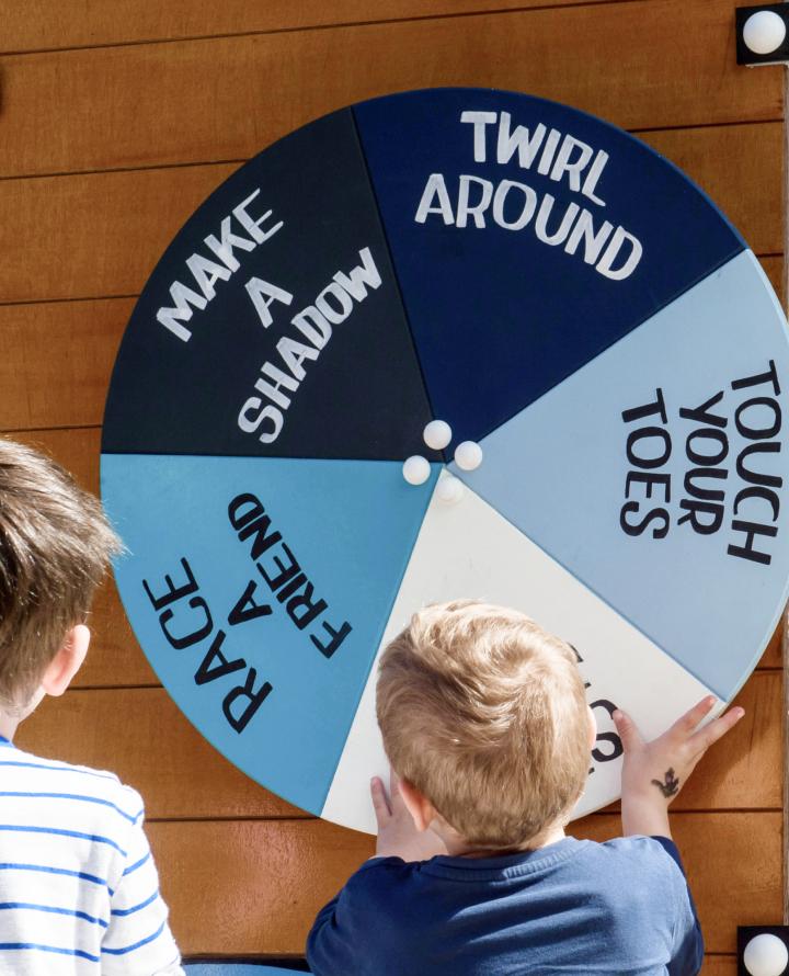 PFAA Movement Play Space - sensory wheel